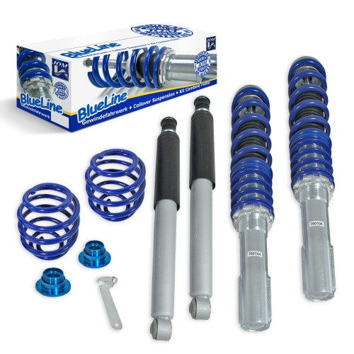 BlueLine Coilover Kit suitable for Opel Corsa A year 10.82-3.93, Corsa B year 03.93-10.01 und Tigra year 11.94-04