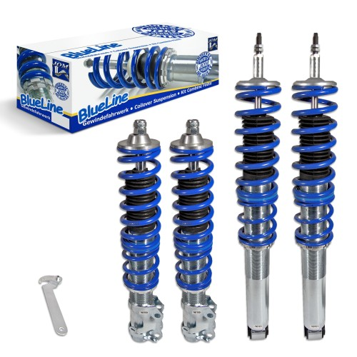 BlueLine Coilover Kit suitable for VW Golf 2  year 08.1983-11.1991 (19E), except vehicles with four-wheel drive