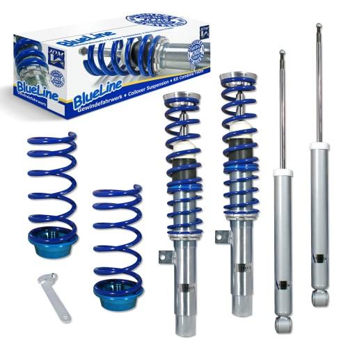 BlueLine Gewindefahrwerk passend für Ford Focus 1 1.4,1.6, 1.8, 2.0 1.8TD, TDdi, TDCi, außer 2.0 RS und Turnier Baujahr 10.1998-2004