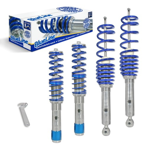 BlueLine Coilover Kit suitable for BMW E39 520i, 523i, 525i, 528i, 530i, 520D, 525D, TD, TDS and 530D, year 1995-2003, except Touring