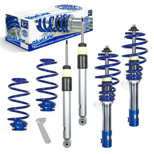 Kit combiné fileté, BlueLine, VW Golf VI Plus/ Variant 1.9TDi DSG/ 2.0TDi/ DSG Ø 50/55 mm!! sauf Quattro, filetage/ressort