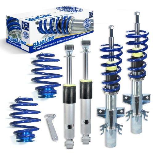 BlueLine Coilover Kit suitable for VW Transporter T5 Typ 7H 2.0, 3.2 V6, 1.9TDi, 2.0TDi / BiTDi, 2.5TDi, incl. vehicles with four-wheel drive year 2003-2015