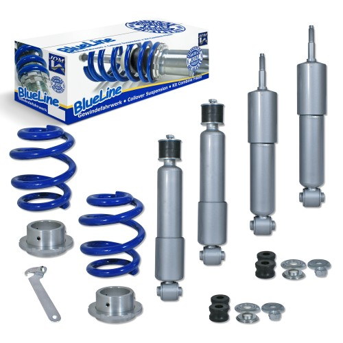 BlueLine Coilover Kit suitable for VW T4 Transporter, Syncro, Multivan, Caravelle and Bus year 1991 - 2003