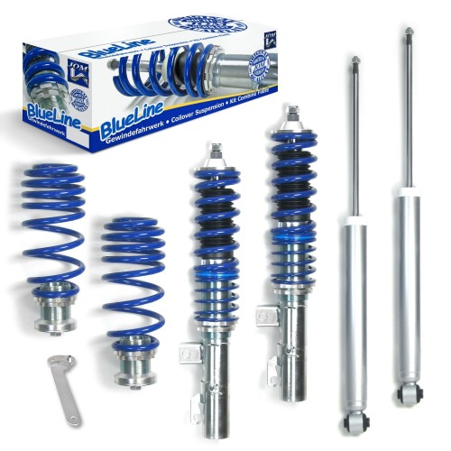 Blueline Coilover Kit suitable for Audi TT 8N Coupé and Roadster 1.8, 1.8T year 09.1998 - 2006, except vehicles with four-wheel drive