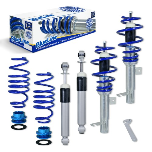 Blueline Coilover Kit suitable for Ford Fiesta JH and JD 1.25, 1.3, 1.4, 1.6, 1.4TDCi, 1.6TDCi, year 11.2001 - 2008 and Ford Fiesta ST 2.0 year 11.2004 - 2008