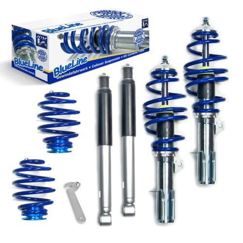 BlueLine Gewindefahrwerk passend für Opel Corsa C 1.4i 16V, 1.8i 16V, 1.3CDTi, 1.7DTi, 1.7CDTi Baujahr 11.2001 - 2006