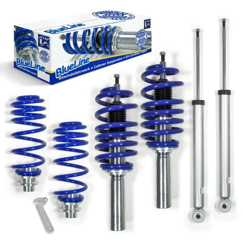 BlueLine Coilover Kit suitable for Audi A5 8T incl. Quattro models 1.8 TFSI, 2.0 TDI, 2.0 TFSI, 2.7 TDI, 3.0 TDI, 3.2 FSI, year 2007-2011