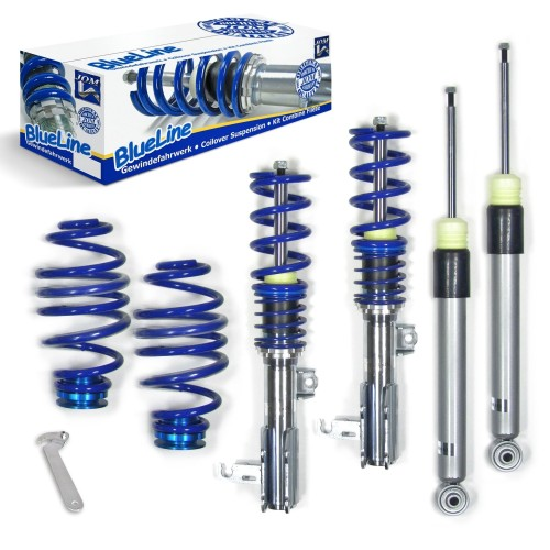 BlueLine Coilover Kit suitable for Opel Astra J Limo type P-J 2WD 1.3 CDTi, 1.4, 1.4T, 1.6, 1.7 CDTi, 2.0 CDTi,  year 11.2008 - 2015, except vehicles with CDC