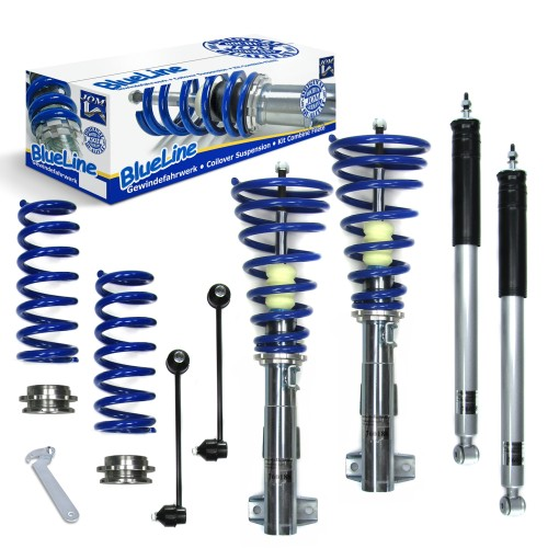 BlueLine Gewindefahrwerk mit Stabilisatoren passend für Mercedes C- Klasse (W203) Limo C180/ C200/ C220/ C230/ C240/ C270/ C280/ C320, Baujahr 2000-2007, Coupe (CL203) C160/ C180/ C200/ C220/ C230/ C320/ C350, T-Model C180/ C200/ C220/ C230/ C240/ C270/ C