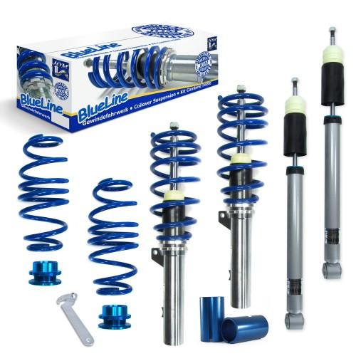 BlueLine Gewindefahrwerke passend für Audi A3 (8V) 1.2 TFSI, 1.4 TFSI, 1.6 TDI, 1.8 TFSI, 2.0 TDI ab Baujahr 2012 nur passend bei Fahrzeugen mit Verbundlenker