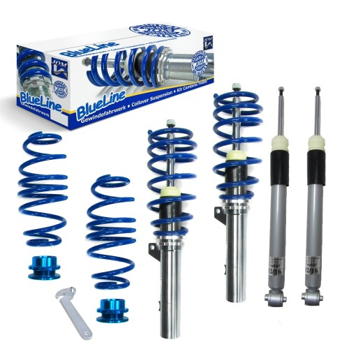 BlueLine Coilover Kit suitable for Skoda Octavia Limousine and Kombi (5E) 1.2 TSI, 1.4 TSI year 2012-, only fit for rear beam axle