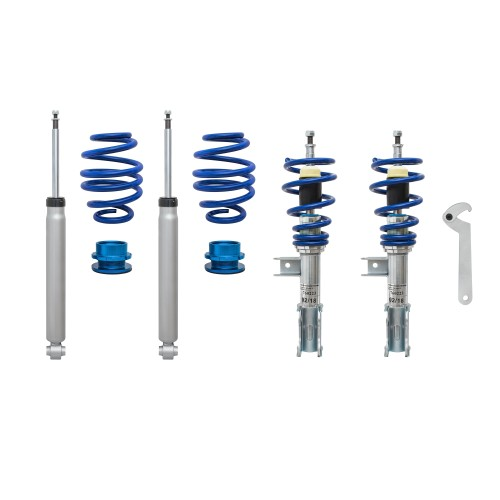 BlueLine Coilover Kit suitable for  Mercedes CLA (C117) and Shooting Brake (X117) 180, 200, 220, 250, 180CDI, 200CDI, 220CDI incl. 4-Matic year 2013-