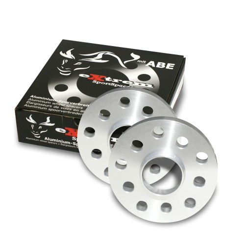 Wheel spacers, NJT eXtrem SportSpacer, 40mm 5/100/112, Audi/Bentley/Chrysler/Ford/Seat/Skoda/VW, NLB 57,1 mm, with hub-locating ring