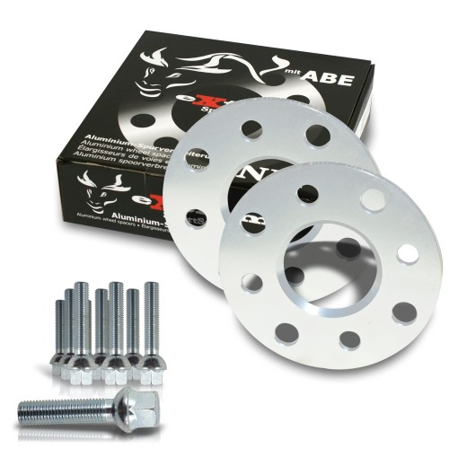 Spurverbreiterung Set 10mm inkl. Radschrauben passend für Audi 80,90 incl.Quattro,Coupe (89Q,B4)