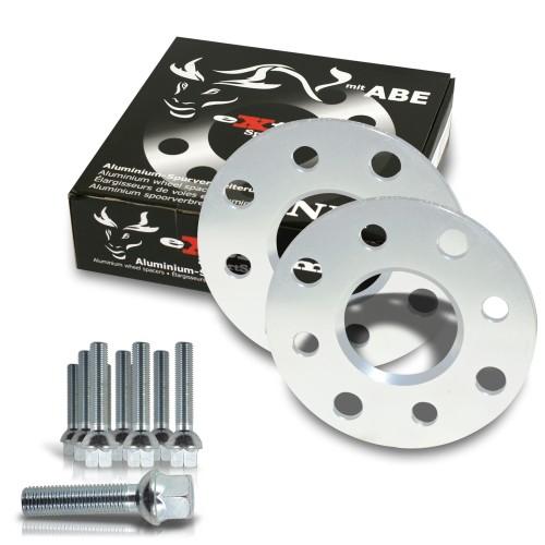 Wheel spacer kit 10mm incl. wheel bolts, for Audi 80 / Audi 90 / 89Q
