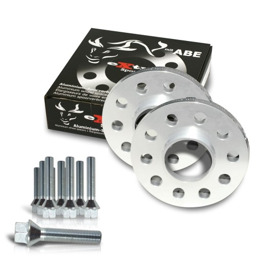 Wheel spacer kit 20mm incl. wheel bolts, for BMW E34 M5