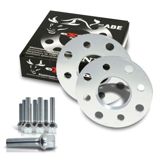 Wheel spacer kit 10mm incl. wheel bolts, for VW New Beetle