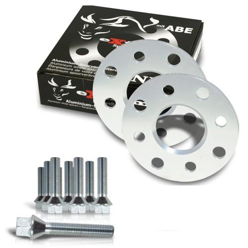 Spurverbreiterung Set 10mm inkl. Radschrauben passend für Saab 9-3 (YS3FXXXX / YS3F / YS3DXXXX), 9-3 Cabrio (YS3F C)