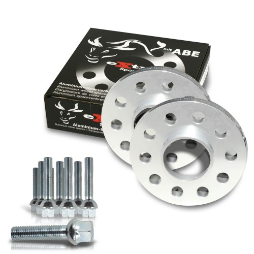 Wheel spacer kit 20mm incl. wheel bolts, for Audi TT 8N / Audi TT Roadster 8J