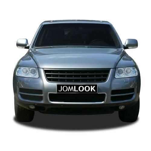 Kühlergrill ohne Emblem, schwarz passend für VW Touareg (7L) Baujahr 2002 - 2006 (vor Facelift)