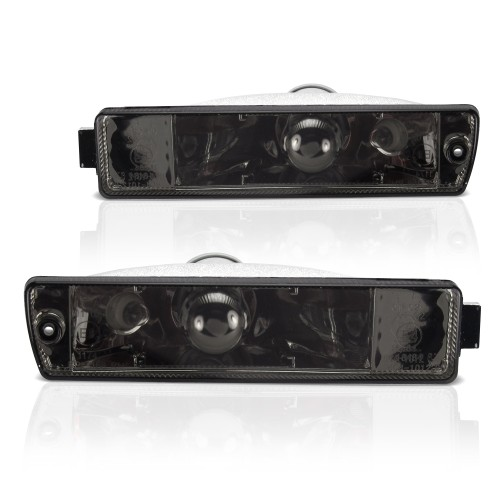 Front indicators, built-in position light, clear/black suitable for VW Golf 2 (19E, 1G1) year 09.1989-12.1992