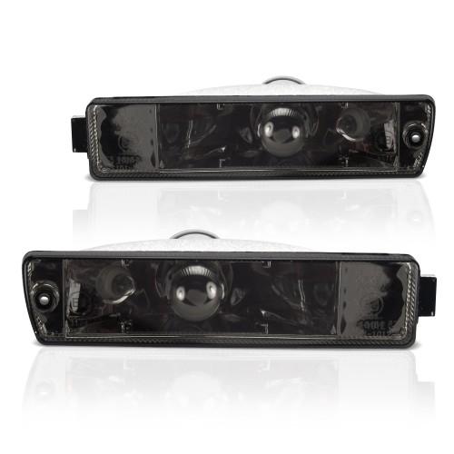 Frontblinker, Blinker, mit Standlichtfunktion, Klarglas / schwarz passend für VW Jetta 2 (19E, 1G2) Baujahr 01.1984-12.1992 und VW Golf 2 (19E, 1G1) Baujahr 09.1989-12.1992