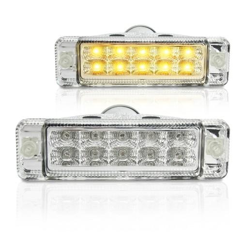 Frontblinker, Blinker, LED,  Klarglas/ chrom passend für VW, Golf 2/Jetta -07/89