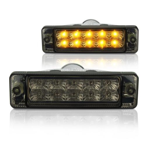 Frontblinker, LED, Klarglas/ schwarz passend für VW Golf 2 Baujahr 1983-1989 und Jetta 2 Baujahr 1984 -07.1989