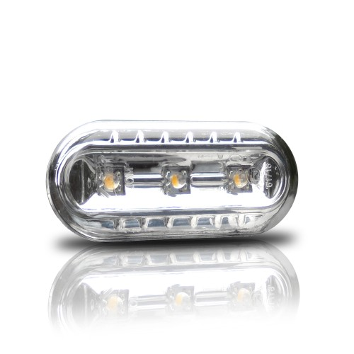Répétiteurs à LED, VW Golf 3/4, Vento 96-, Lupo, Passat B5, Polo 2000-, Seat Leon , face lisse/fond chrome