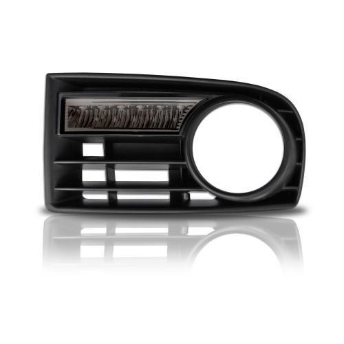 Tagfahrlicht, 6 LED mit Dimm-Funktion, Fahrzeugspezifischer Einbausatz, smoke (für Fahrzeuge mit Nebelscheinwerfer) passend für VW Golf 5