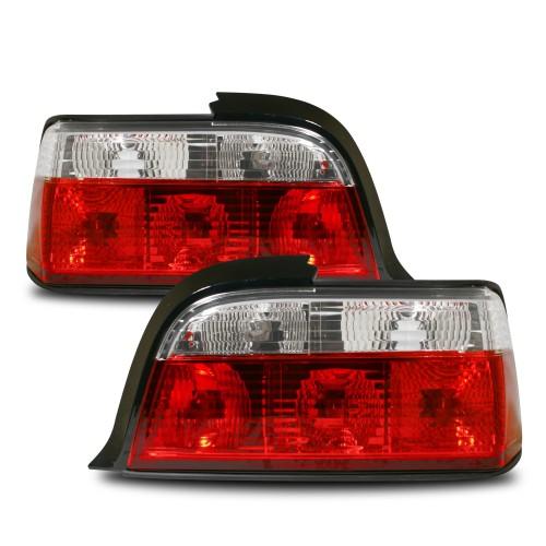 Rückleuchten Kristallglas rot /weiß passend für BMW E36 Coupe Bj. 1992 - 1999