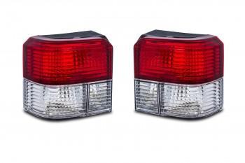 Rückleuchten, kristall / rot / chrom passend für VW T4 Bj. 90-02