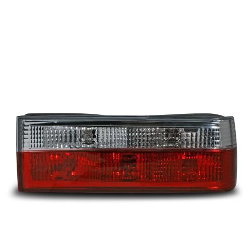 Rückleuchten Kristallglas rot-weiß passend für BMW E30 Bj. 1982-1987 und Cabrio Bj. 1982-1990