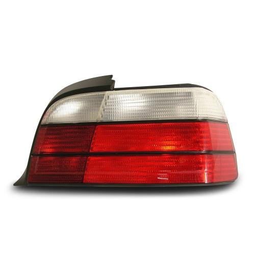 Rückleuchten Kristallglas rot-weiß passend für BMW E36 Coupe und Cabrio Bj. 92-99