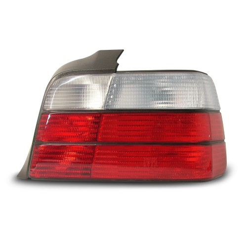 Rear lights, BMW E36/4 doors 90-98, crystal red/white, not for right hand drive!