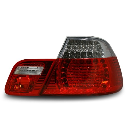 Rückleuchten, LED, klar / rot (4-teilig) passend für BMW  E46/2  Bj. 99-02