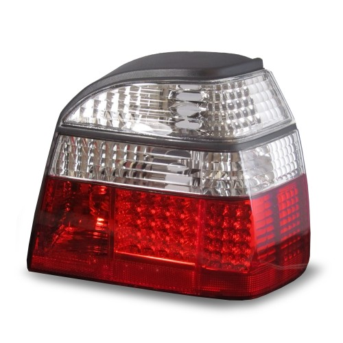 Rear light set, LED, VW Golf 3 91-97, red/clear, not for right hand drive!