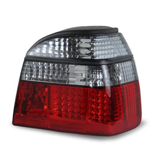 Feux arrière à LED, VW Golf 3 91-97, rouge/fumé