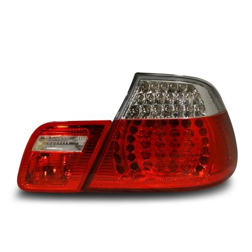LED Rückleuchten Klarglas weiß-rot passend für BMW 3er E46 Cabrio Bj. 98-03.03