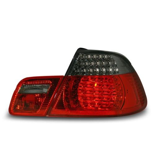 feux arrière VMW E46 Cabrio 98-03.03 avec LED noir/rouge (4 pièces)