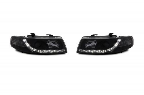 Tagfahrlicht Design Scheinwerfer passend für Seat Leon Bj. 99-05 und Toledo Bj. 99-04
