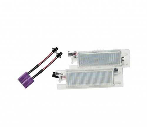 Licence plate LED bulbs, LED, 8 SMD, Opel Zafira B 05-11, Astra H 04-09, Corsa D 06-11, Insignia 08-,  with homolagation