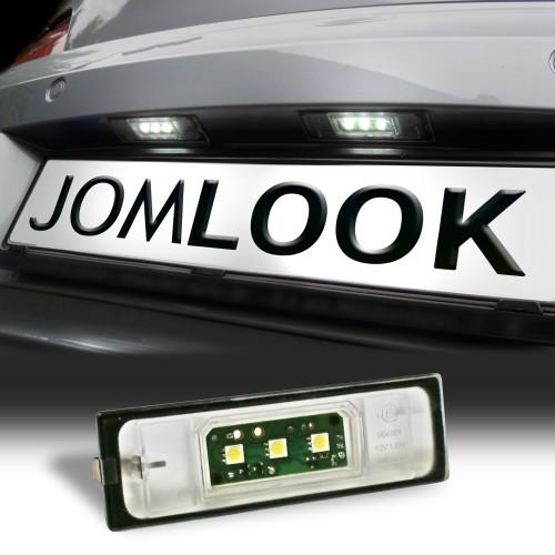 Éclairage de plaque d'immatriculation, 2 pièces, BMW série 1 (E81, E87, E87N, E85, E86) / série 6 (E63, E63N, E64 (M6), E64N)