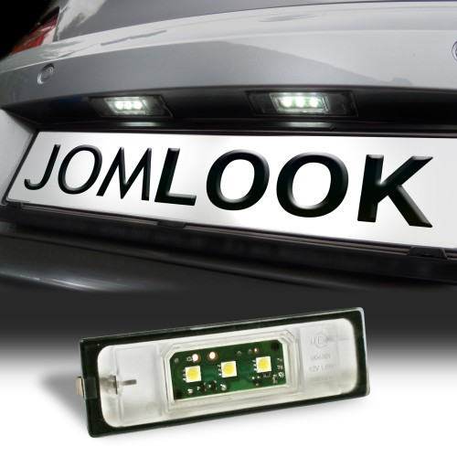 LED Kennzeichenbeleuchtung, 3 SMD LED, 2 St., inkl. E-Zeichen passend für 1er Serie  E81, E87, E87N, E85, E86 / 6 Serie E63, E63N, E64 (M6), E64N