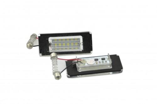 Licence plate LEDs, 2 pieces, Mini Cooper R52 / R55 / R55N / R56 / R56N / R57 / R57N / R58 / R59