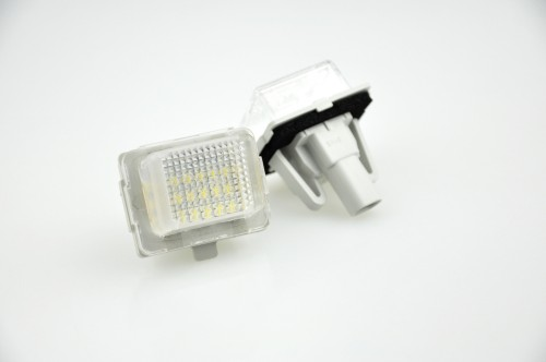 LED Kennzeichen Beleuchtung, Power-LEDs, inkl. E-Prüfzeichen passend für Mercedes-Benz W204 2D/4D/5D Bj. 11- / W205 Bj. 14- / W216 2D Bj. 11- /  W218 4D Bj. 10- / W212 4D/5D Bj. 11- / W221 4D Bj. 09- / W231(R231) 2D Cabrio Bj. 12- / W222 Bj. 13- / CLA Bj.