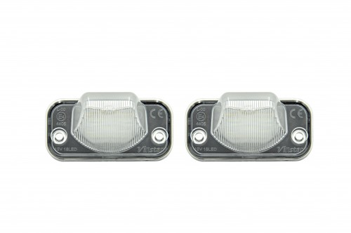 LED Kennzeichen Beleuchtung, Power-LEDs, inkl. E-Prüfzeichen passend für VW T4 90-03, Transporter syncro 1993-2004, Transporter (TR) 91-04, CAMPMOB. (TYP2/TRANSP./LT) [CAMP] 91-03,