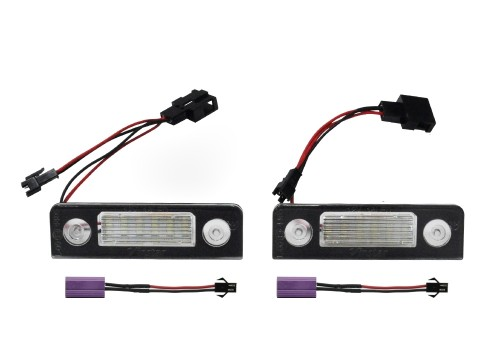 Licence plate LEDs, 2 pieces, Skoda Octavia 1Z 04-13 / Roomster 06-13