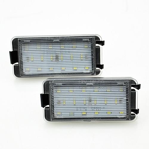 LED Kennzeichen Beleuchtung, Power-LEDs, inkl. E-Prüfzeichen passend für Seat Altea 04-14, Arosa 97-04, Ibiza 99-09, Cordoba 99-09, Leon 99-06, Toledo 2 99-06, Toledo 3 04-09