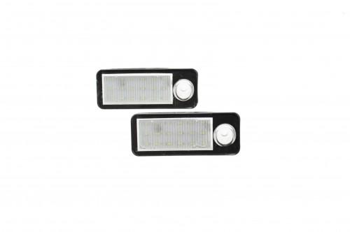 LED Kennzeichen Beleuchtung, Power-LEDs, inkl. E-Prüfzeichen passend für Audi A6 C5/ 4B Avant 98-05, RS6/RS6 Plus 03-05